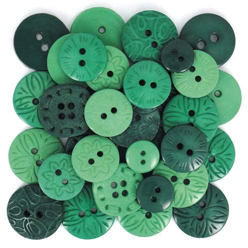 Knopf Green Ø 10 - 21 mm 18 Stk. grün - mix