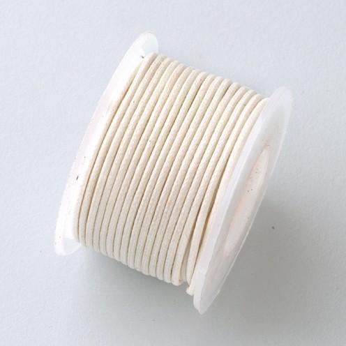 Baumwollkordel gewachst ø 0,5 mm 9 m creme