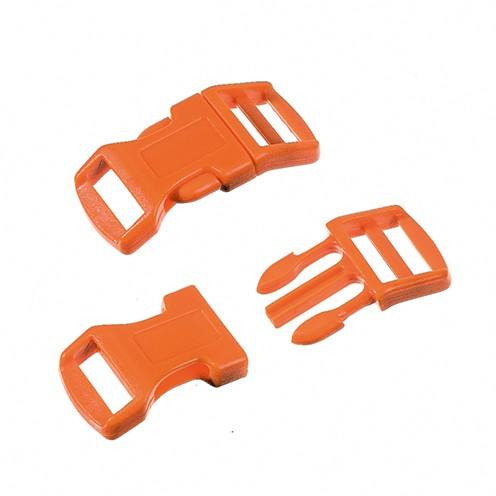 Klickschnalle 16 / 20 mm 8 Stk. orange