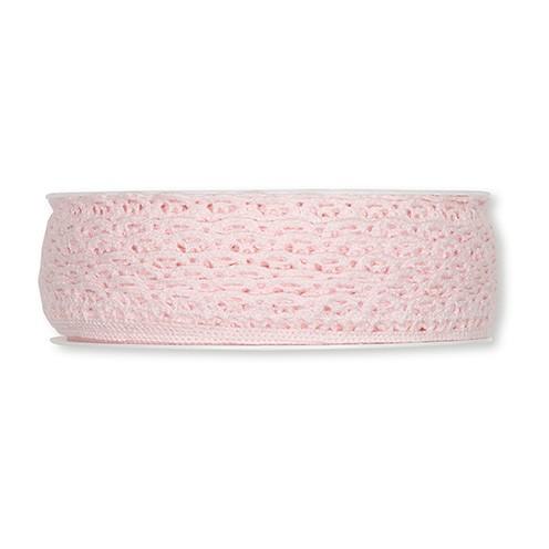 Häkelspitze waschbar 30° 10 mm rosa