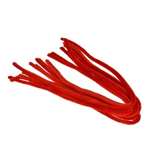 Pfeifenputzer ø 8 mm / 50 cm 10 Stk. rot