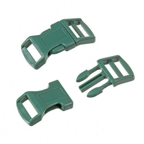 Klickschnalle 16 / 20 mm 8 Stk. dunkelgrün