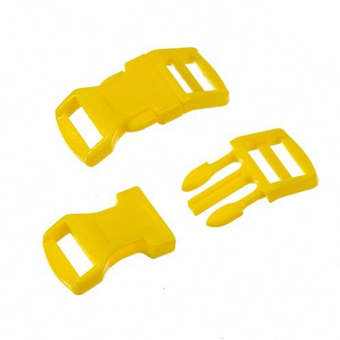 Klickschnalle 16 / 20 mm 8 Stk. gelb