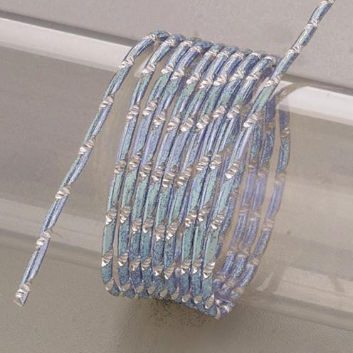 Aludraht eloxiert Diamant ø 2 mm 2 m eisblau