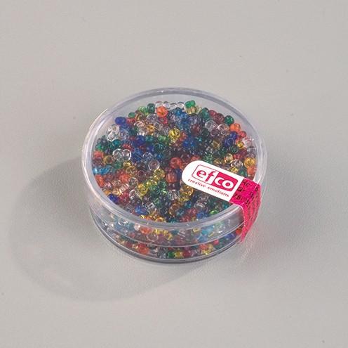 Indianerperlen transparent ø 2,6 mm 17 g farbig sortiert