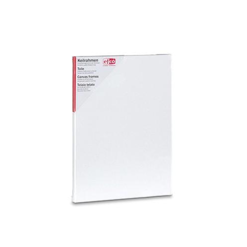 Keilrahmen bespannt 30 x 40 cm / 1,7 cm weiß