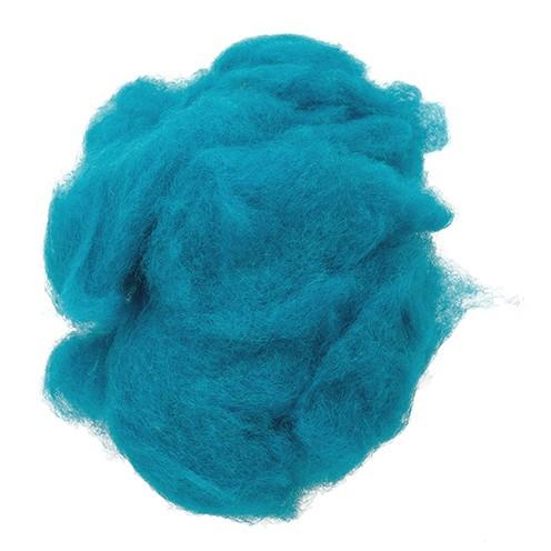 Wolle zum Filzen reine Schurwolle 30 g türkis