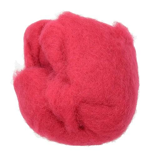 Wolle zum Filzen reine Schurwolle 30 g fuchsia