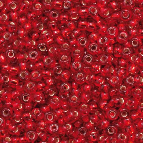 Indianerperlen Silbereinzug ø 2,2 mm 500 g rot