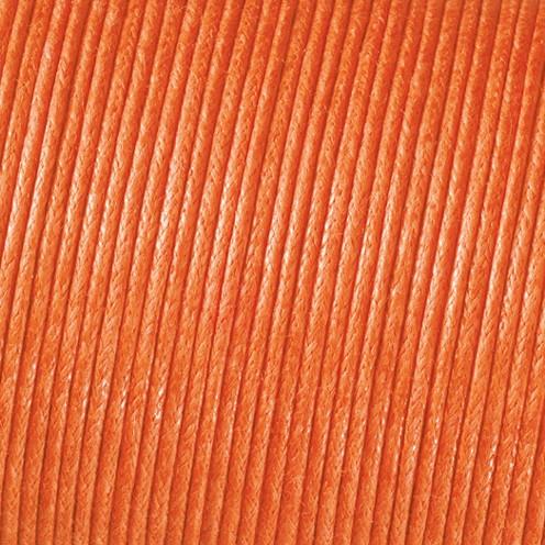 Baumwollkordel gewachst ø 1 mm orange
