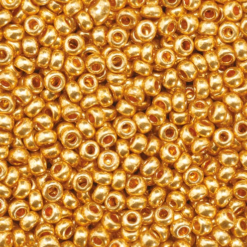 Indianerperlen metallic ø 2,2 mm 17 g kupfergold