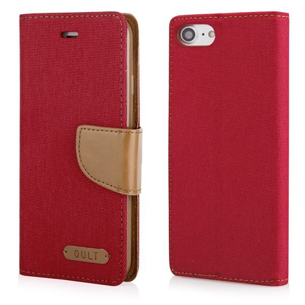 """CASE """"""""FANCY"""""""" CANVAS iPhone 7/8 red"""