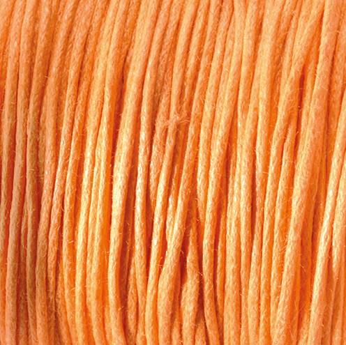 Baumwollkordel gewachst ~ 0,5 mm orange