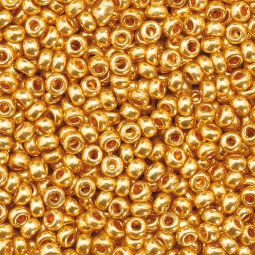 Indianerperlen metallic ø 2,2 mm 500 g gold