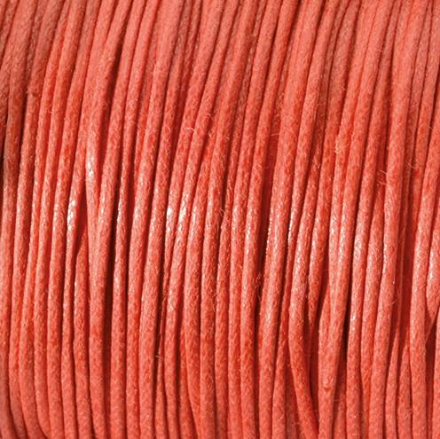 Baumwollkordel gewachst ~ 0,5 mm rot