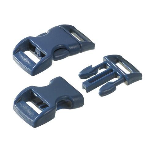 Klickschnalle 11 / 14 mm 10 Stk. blau