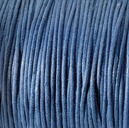 Baumwollkordel gewachst ~ 0,5 mm blau