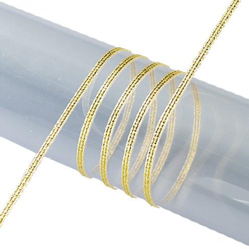 Lurexband 3 mm gold