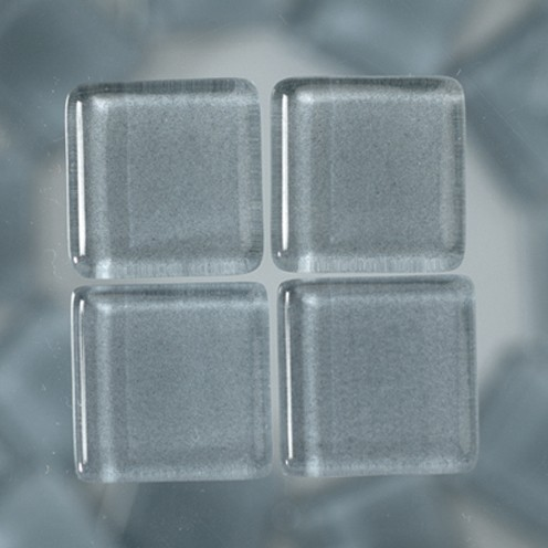 MosaixSoft-Glassteine 15 x 15 x 4 mm 1.000 g ~ 457 Stk. grau