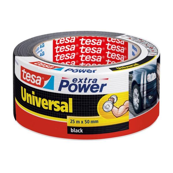 TESA Extra Power - Schwarz - Befestigung - Handwerk - Kennzeichnung - Reparatur - Metall - Holz - 25