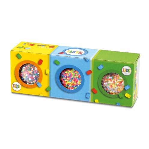 Nabbi® Beads Set ~Ø 5 x H 5 mm 3 x 5.000 Stk. farbmix sortiert