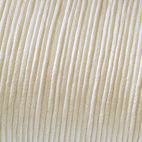 Baumwollkordel gewachst ø 1 mm creme
