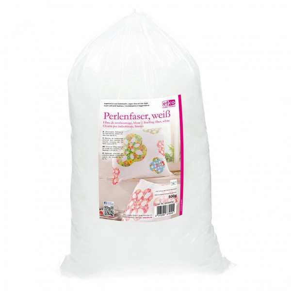 Perlenfaser zum Befüllen und Dekorieren 500 g weiß