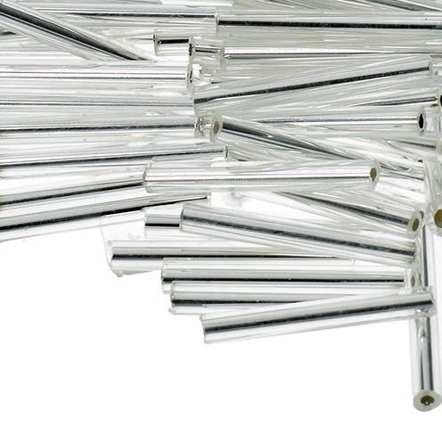 Stiftperlen Silbereinzug ø 2 x 20 mm 10 g silber