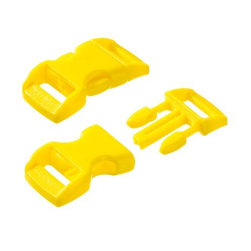 Klickschnalle 11 / 14 mm 10 Stk. gelb