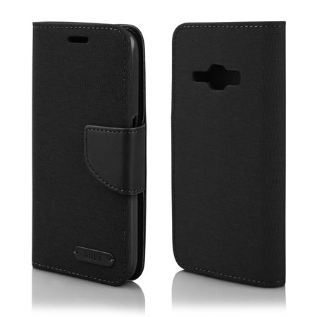 "CASE """"FANCY"""" CANVAS SAMS.J120 J1 (2016) black"