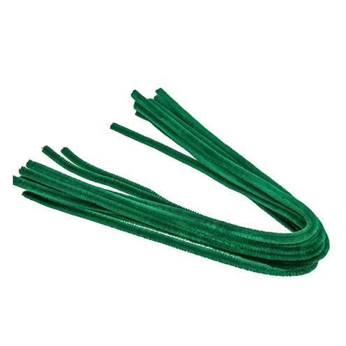 Pfeifenputzer ø 8 mm / 50 cm 10 Stk. grün