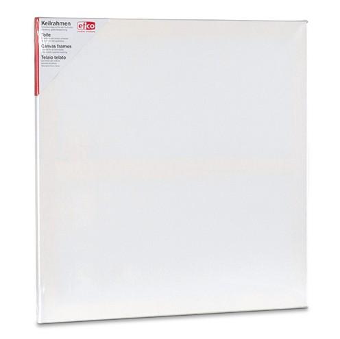 Keilrahmen bespannt 60 x 60 cm / 1,7 cm weiß