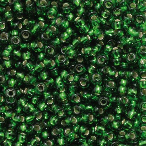 Indianerperlen Silbereinzug ø 2,2 mm 500 g mittelgrün