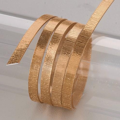 Aludraht eloxiert Struktur flach 1 x 5 mm 2 m braun