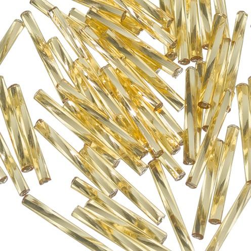 Stiftperlen Silbereinzug gedreht ø 2 x 20 mm 10 g gold