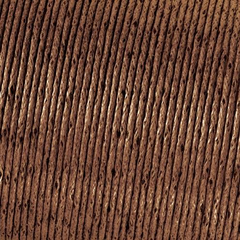 Baumwollkordel gewachst ø 2,0 mm braun