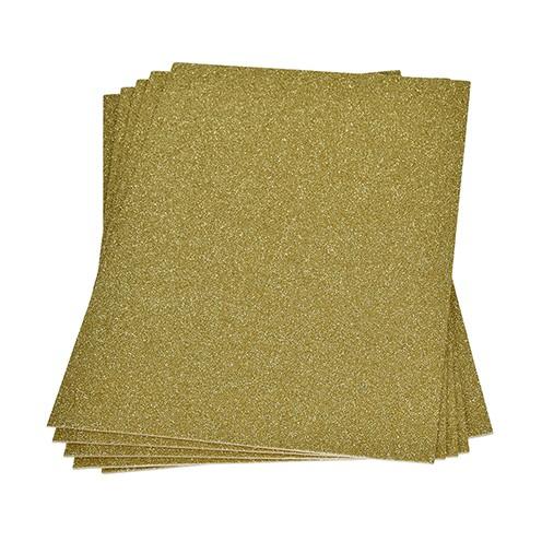 Moosgummiplatte Glitter 200 x 300 x 2 mm gold