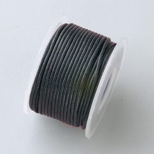 Baumwollkordel gewachst ø 0,5 mm 9 m schwarz