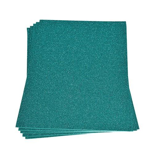 Moosgummiplatte Glitter 200 x 300 x 2 mm türkis