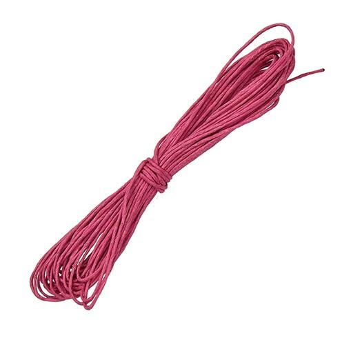 Baumwollkordel gewachst ø 1 mm / 6 m pink