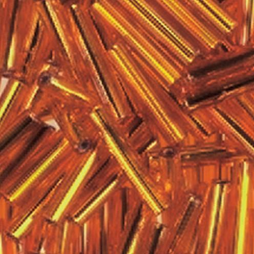 Stiftperlen Silbereinzug ø 2 x 11 mm 500 g orange