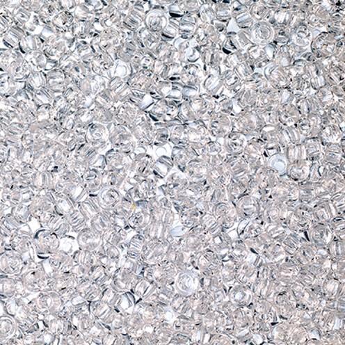 Indianerperlen transparent ø 2,6 mm 500 g klar