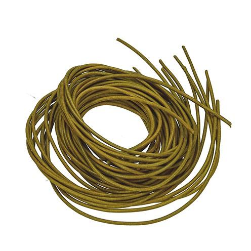 Lederriemen ø 2 mm 1 m oliv