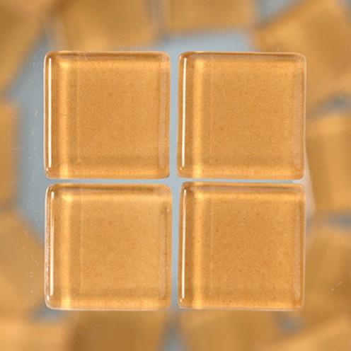 MosaixSoft-Glassteine 10 x 10 x 4 mm 200g ~ 215 Stk. hellbraun