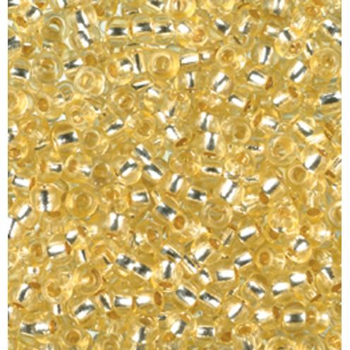 Indianerperlen Silbereinzug ø 2,6 mm 500 g hellgelb
