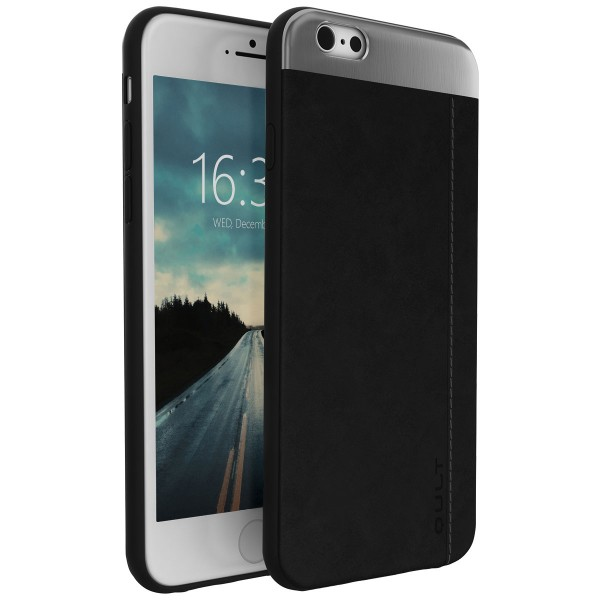"BACK CASE QULT """"SLATE"""" iPhone 6/6s 5.5"""" PLUS black"""