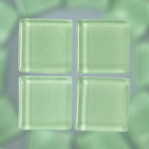 MosaixSoft-Glassteine 20 x 20 x 4 mm 200 g ~ 41 Stk. hellgrün