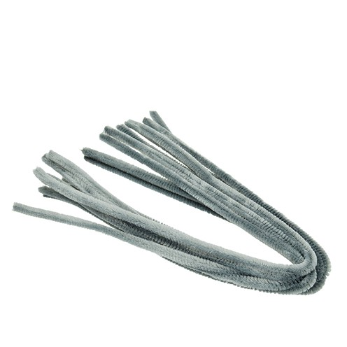 Pfeifenputzer ø 8 mm / 50 cm 10 Stk. grau