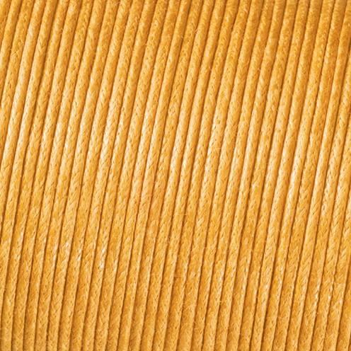 Baumwollkordel gewachst ø 1 mm gelb