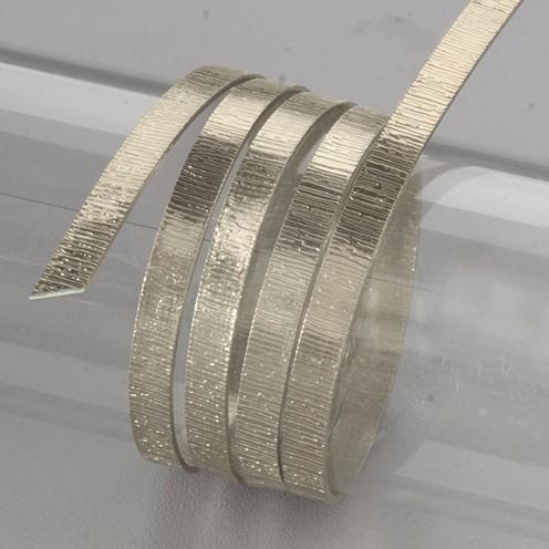 Aludraht eloxiert Struktur flach 1 x 5 mm 2 m pearl